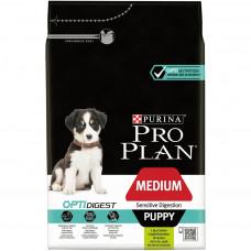 Pro Plan Medium Puppy 3 кг с ягненком чувствительным пищеварением, Проплан для щенков