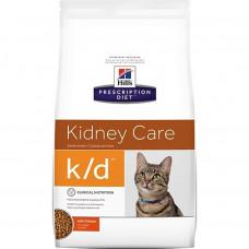 Hill's Prescription Diet k/d Kidney Care Chicken 1,5кг для взрослых кошек при заболеваниях почек, Хилс для кошек