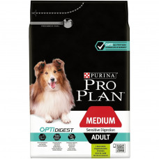 Pro Plan Optidigest Medium Adult 3кг для собак средних пород с чувствительным пищеварением с ягненком
