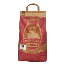 Сибирская Кошка Экстра 10 кг Комкующийся наполнитель для длинношерстных кошек
