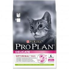Pro Plan Delicate Optirenal Lamb для взрослых кошек с чувствительным пищеварением с ягненком 400г, Проплан для кошек