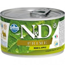 Farmina N&D Dog Prime Консервы для собак кабан и яблоко 140г