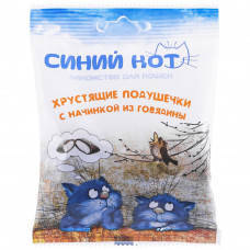 TitBit Подушечки хрустящие Синий кот из говядины.д/кош.30гр, Титбит