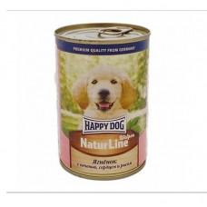 Happy dog 410 г для щенков   Ягненок печень сердце и рисом  , Хэппи Дог для щенков (консервы)