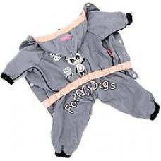 Дождевик панда серый для девочек р 18