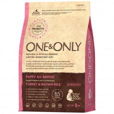 One&Only puppy all breeds turkey&brown rice 3 кг