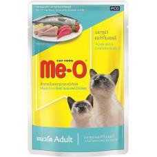 Me-O паучи д/кошек тунец/курица в желе 80 г