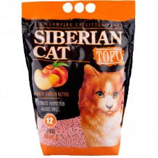Сибирская Кошка Тофу 12л Комкующийся наполнитель персик