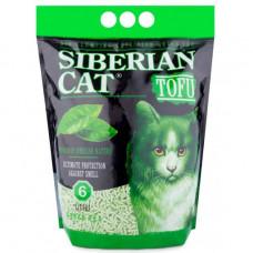Сибирская Кошка Тофу 6л Комкующийся наполнитель зеленый чай