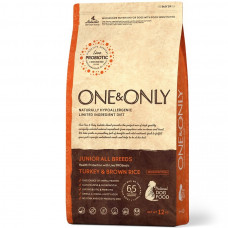 One&Only junior all breeds turkey&brown rice 1 кг