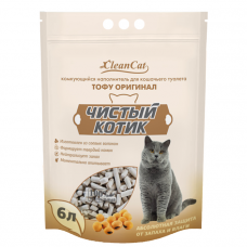 Чистый котик тофу,оригинал,комкующийся,6л