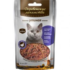 ДеревЛак. Соломка утиная для кошек (100% мясо) 45 г , Деревенские лакомства для кошек