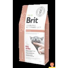 Brit VDC GF Renal 2кг беззерновой для взрослых кошек при заболеваниях почек, с яйцами и горохом