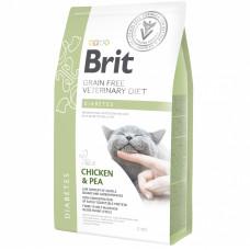 Brit VDC GF Diabetes 2кг беззерновой для взрослых кошек при диабете, с курицей и горохом