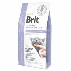 Brit VDC GF Gastrointestinal 2кг беззерновой для взрослых кошек при расстройствах кишечника (гастроэнтеритах), с сельдью и горохом