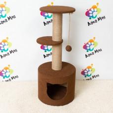 Многоуровневый домик для кошек с когтеточкой, арт. 16 , Когтеточка