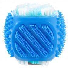 """Triol Игрушка-зубная щетка для собак""""Куб"""",из термопласт.резины,80мм"""