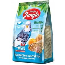 Happy Jungle Корм для волнистых попугаев основной рацион  в период линьки 3 в 1 500гр