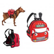"Triol Рюкзак шлейка MINI-DOGS для собак мелких пород""Автобус""S,140*120*160мм,обхват груди 400-500мм"