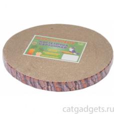 Когтеточка картон,пень сосновый,чип,h40мм,D28см,с пропиткой