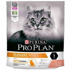 Pro Plan Adult Elegant OPTIderma 400г для взрослых кошек с чувствительной кожей с лососем, Проплан для кошек