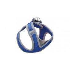 Мягкая шлейка-жилетка  синий обхват груди 410-460 мм