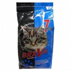 Brava 7л впит.д/длиношерсн. кош (синий) , Брава для кошек