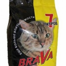 Brava 7л впит.д/глаткошорстн. кош (желтый) , Брава для кошек