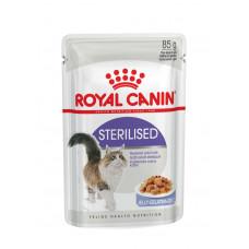 Royal Canin Sterilized 85 г кусочки в желе для кастрированных кошек 1-7лет, , Роял Канин для кошек (