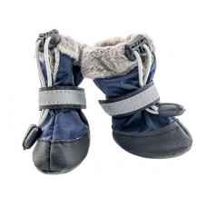 Обувь мягкая утепленная с мехом №1 (2шт) синий ДАРЭЛЛ