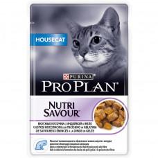 Pro Plan House Cat с индейкой в желе 85 г пауч для домашних , Проплан для кошек (консервы, паучи)