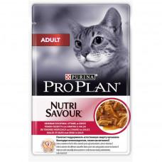 Pro Plan Adult с уткой в соусе 85 г пауч , Проплан для кошек (консервы, паучи)