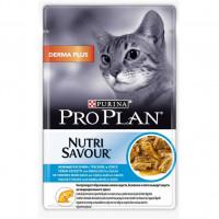 Pro Plan Derma Plus с треской в соусе 85 г для шерсти , Проплан для кошек (консервы, паучи)