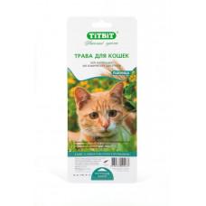 TitBit Травка для кошек (пшеница) 50 г , Титбит для кошек