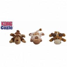 "Kong  Cozie ""Натура"" (обезьянка, барашек, лось) плюш 10 см , Конг"