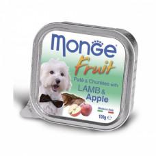 Monge Dog Fruit консервы для собак ягненок с яблоком 100 г , Монж для собак, консервы, паучи
