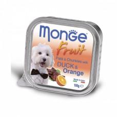 Monge Dog Fruit консервы для собак утка с апельсином 100 г , Монж для собак, консервы, паучи