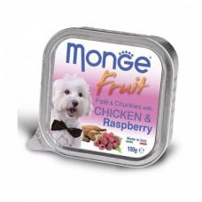 Monge Dog Fruit консервы для собак курица с малиной 100 г , Монж для собак, консервы, паучи