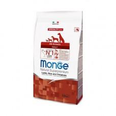 Monge Adult All Breeds Lamb, Rice&Potato 2,5кг для взрослых собак всех пород с ягненком, рисом и картофелем