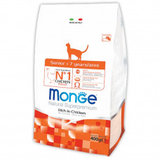 Monge Senior Cat Rich in Chicken 400гр Корм для стареющих и пожилых кошек с курицей