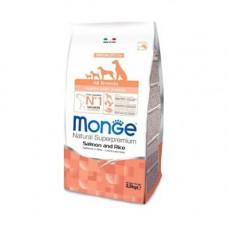 Monge Dog Puppy All Breeds Salmon 800г Лосось с рисом для щенков и молодых собак всех пород , Монж д
