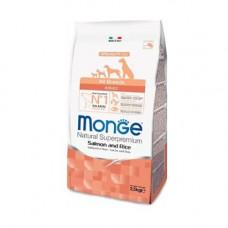 Monge Adult All Breeds Salmon&Rice 2,5кг для взрослых собак всех пород с лососем и рисом