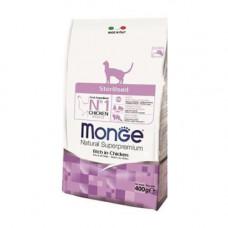 Monge Cat Sterilized Chicken 400г для стерилизованных кошек с курицей, Монж для кошек