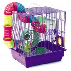Клетка для грызунов, размер клетки / 34,5*28*37/(Код46)