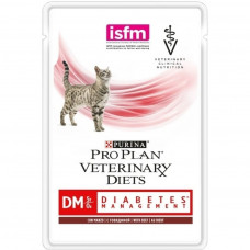 Pro Plan DM с говядиной в соусе 85г при сахарном диабете  , Проплан для кошек (консервы, паучи)