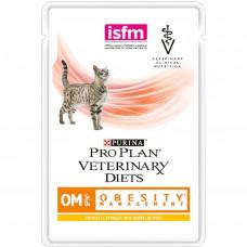 Pro Plan OM с курицей 85 г пауч лечение ожирения , Проплан для кошек (консервы, паучи)