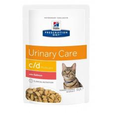 Hill's c/d Urinary Salmon 85г пауч для кошек при профилактике МКБ с лососем (кусочки в соусе) , Хилс