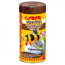 Sera Vipachips Основной корм в форме чипсов для всех придонных рыб 100 мл