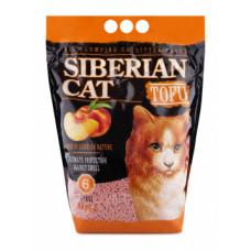 Сибирская Кошка Тофу 6л Комкующийся наполнитель персик