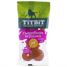 TitBit Сьедобная Игрушка косточка с Ягненком 67гр.из100% мясного бульона.Титбит лакомства для собак